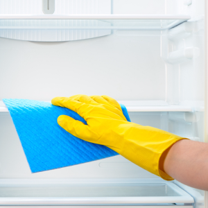 deep cleaning service for empty refrigerator